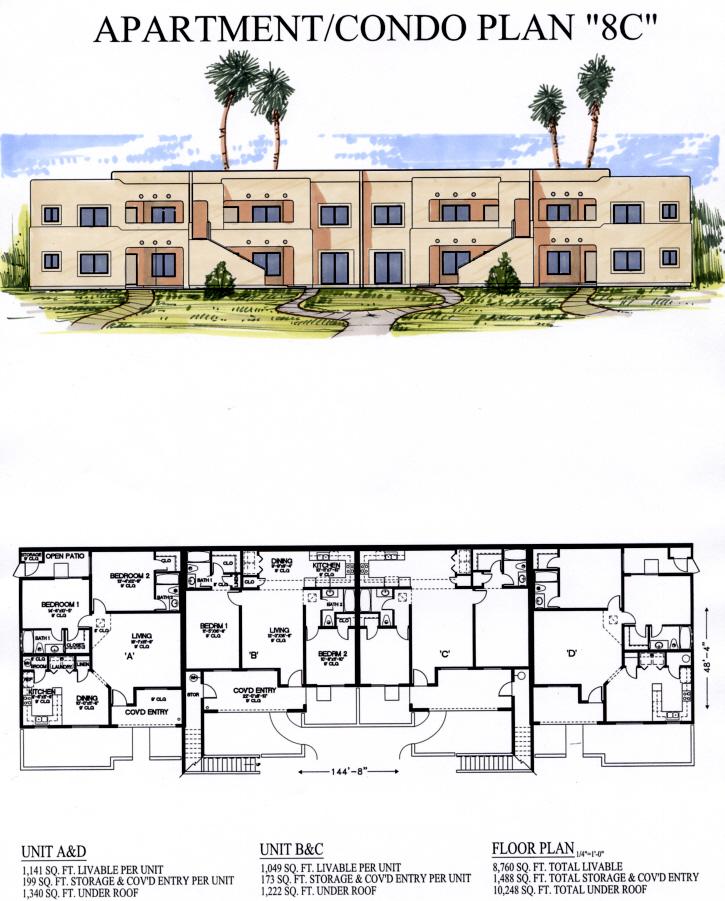 Aptcondo8c for Apartment plans 8 plex