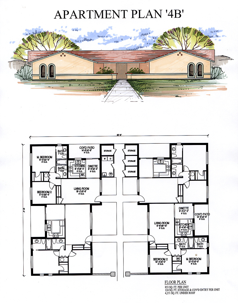 Apartments4b for 8 plex apartment plans