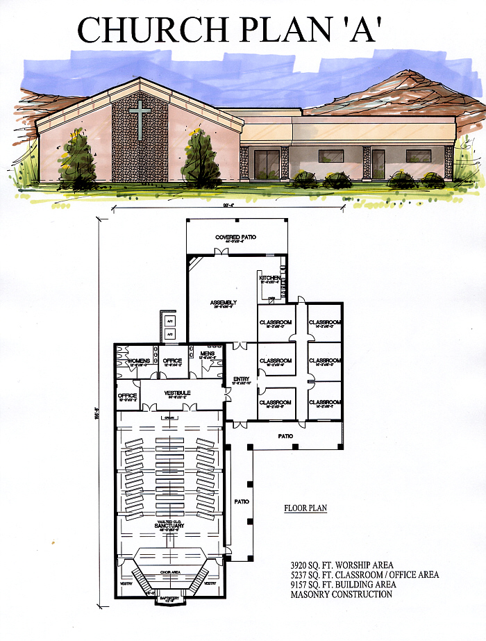 Church Building Plans For 3200 Square Feet