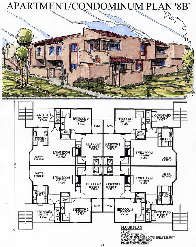 Apartment plans 8 plex best home design 2018 for 8 plex apartment plans