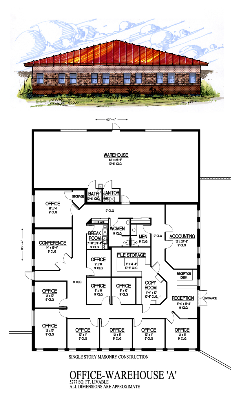 Officewarea for 1200 square foot office plans